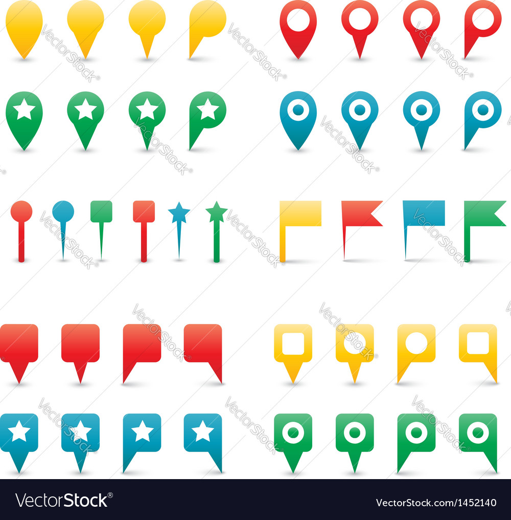 Map pins gradient vector | Price: 1 Credit (USD $1)