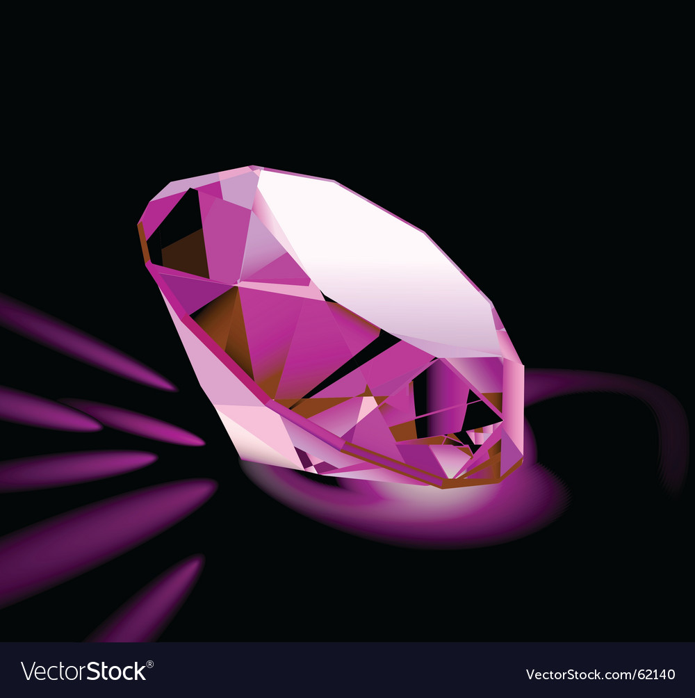 Pink diamond vector | Price: 1 Credit (USD $1)