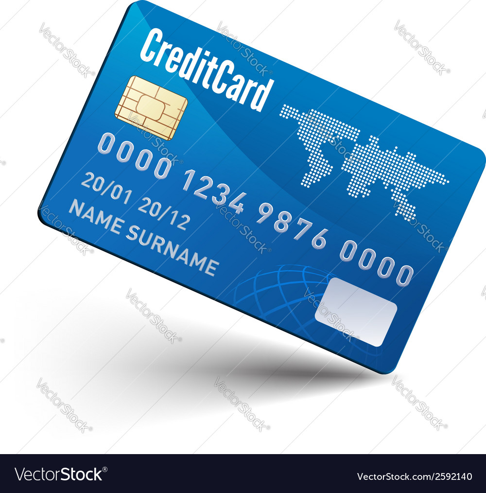 Realistic credit card vector | Price: 1 Credit (USD $1)