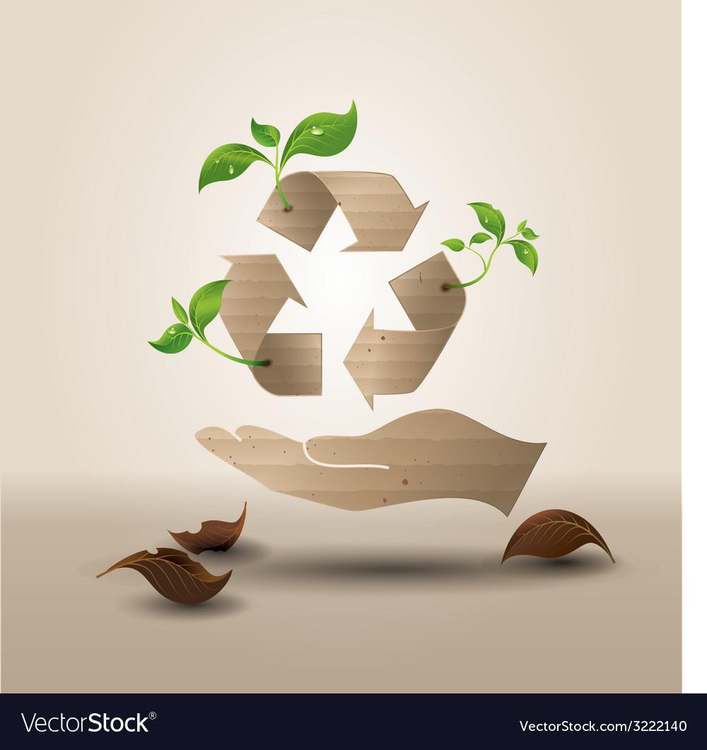 Recyecle hand vector   Price: 1 Credit (USD $1)