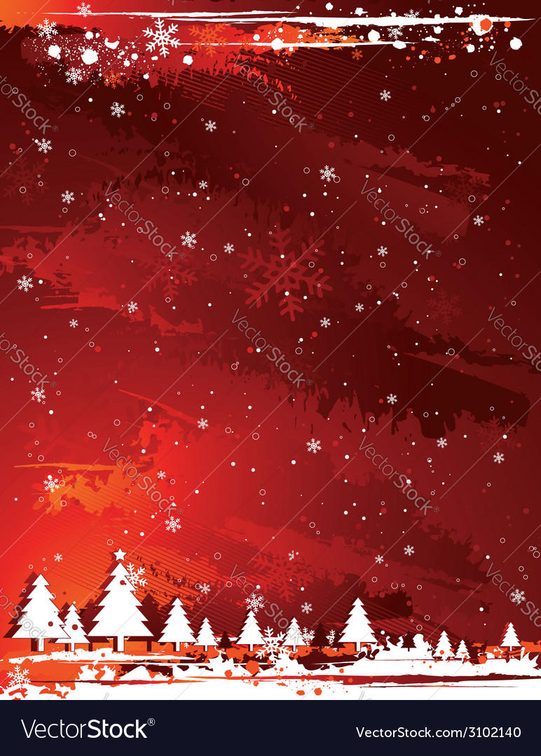 Red grunge christmas background vector | Price: 1 Credit (USD $1)