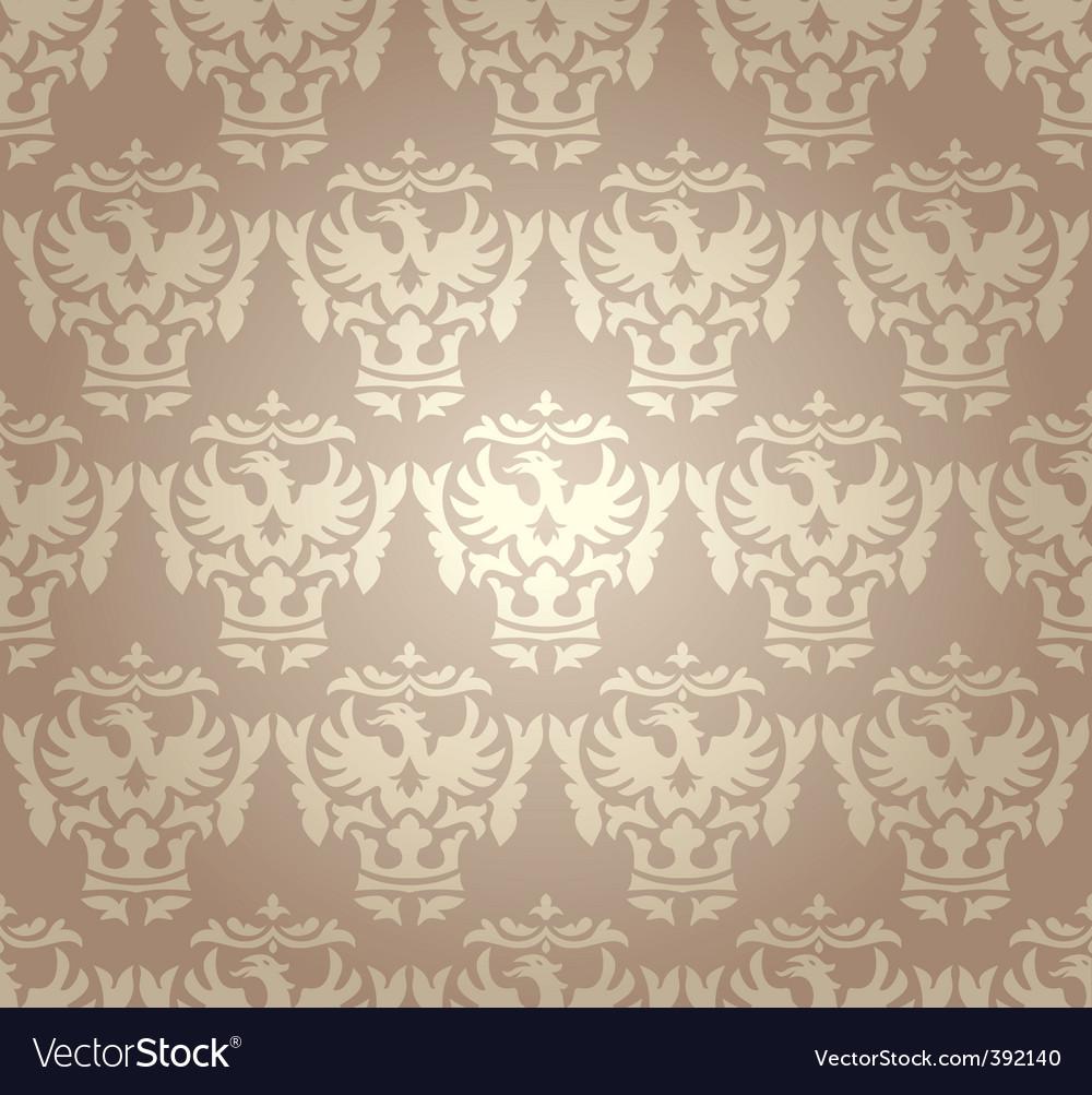Retro damask wallpaper vector   Price: 1 Credit (USD $1)