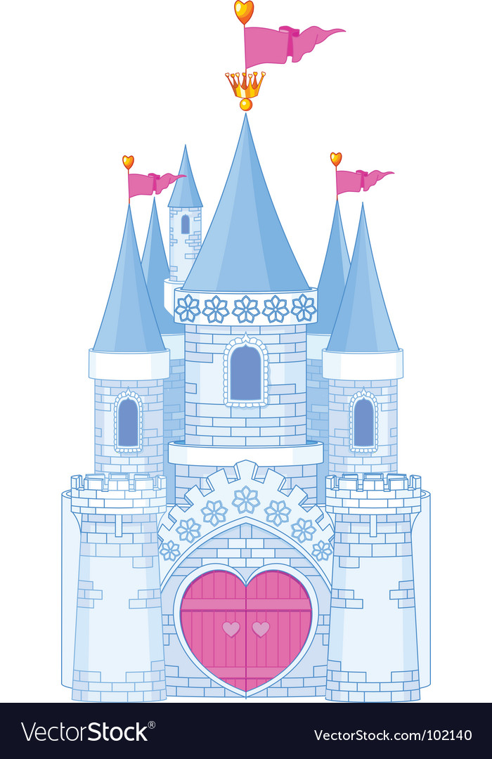Romantic castle vector | Price: 1 Credit (USD $1)