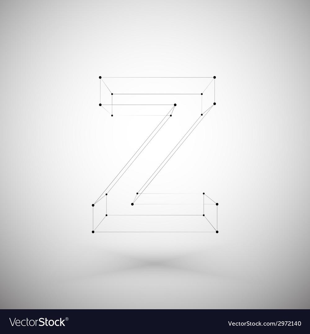 Three dimensional mesh stylish alphabet letter vector | Price: 1 Credit (USD $1)