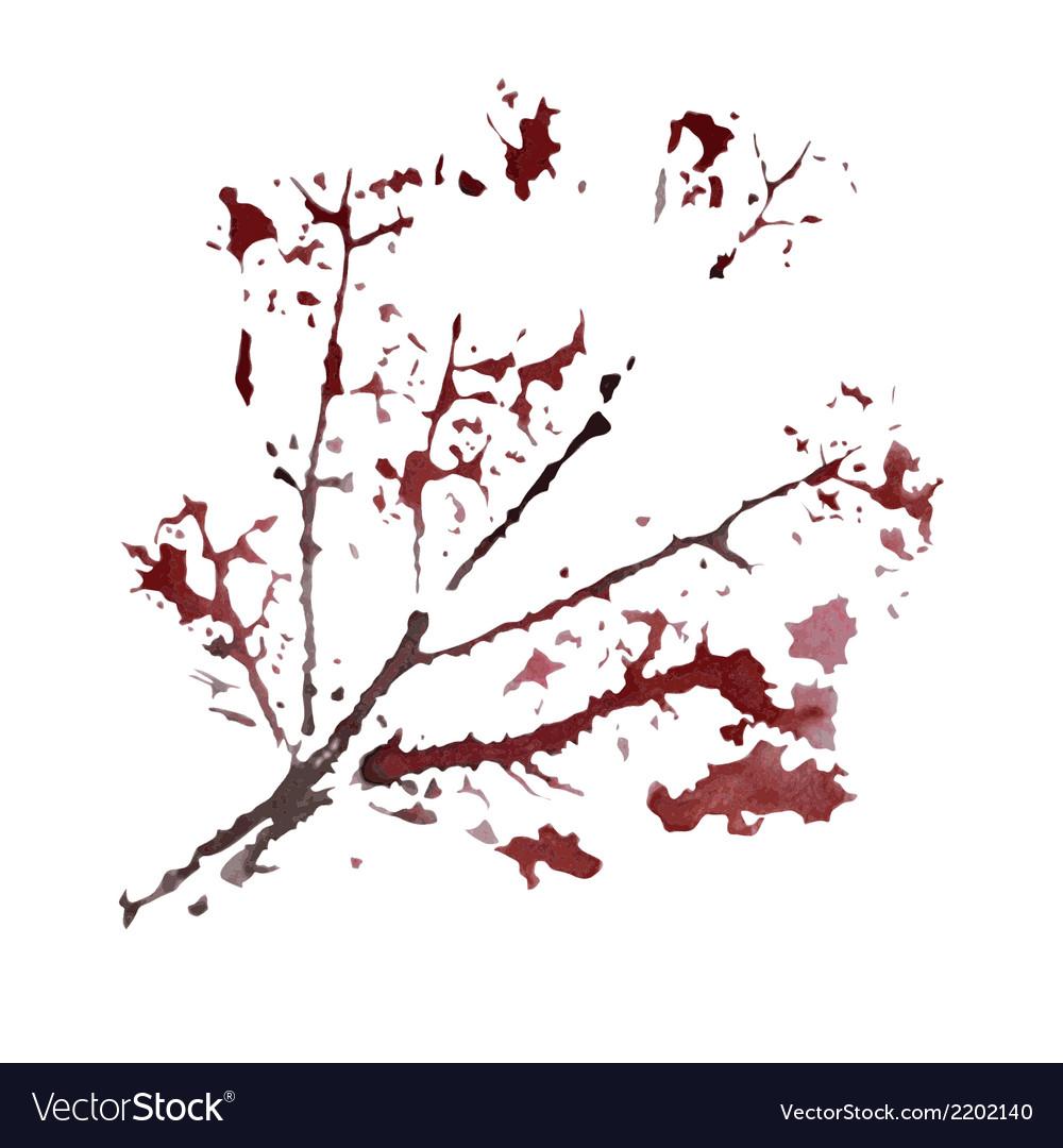 Watercolor branch vector | Price: 1 Credit (USD $1)