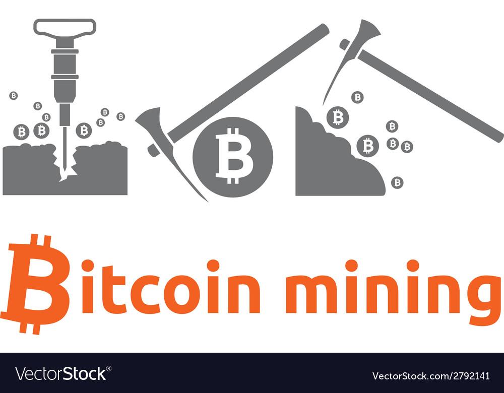 Bitcoin mining vector | Price: 1 Credit (USD $1)