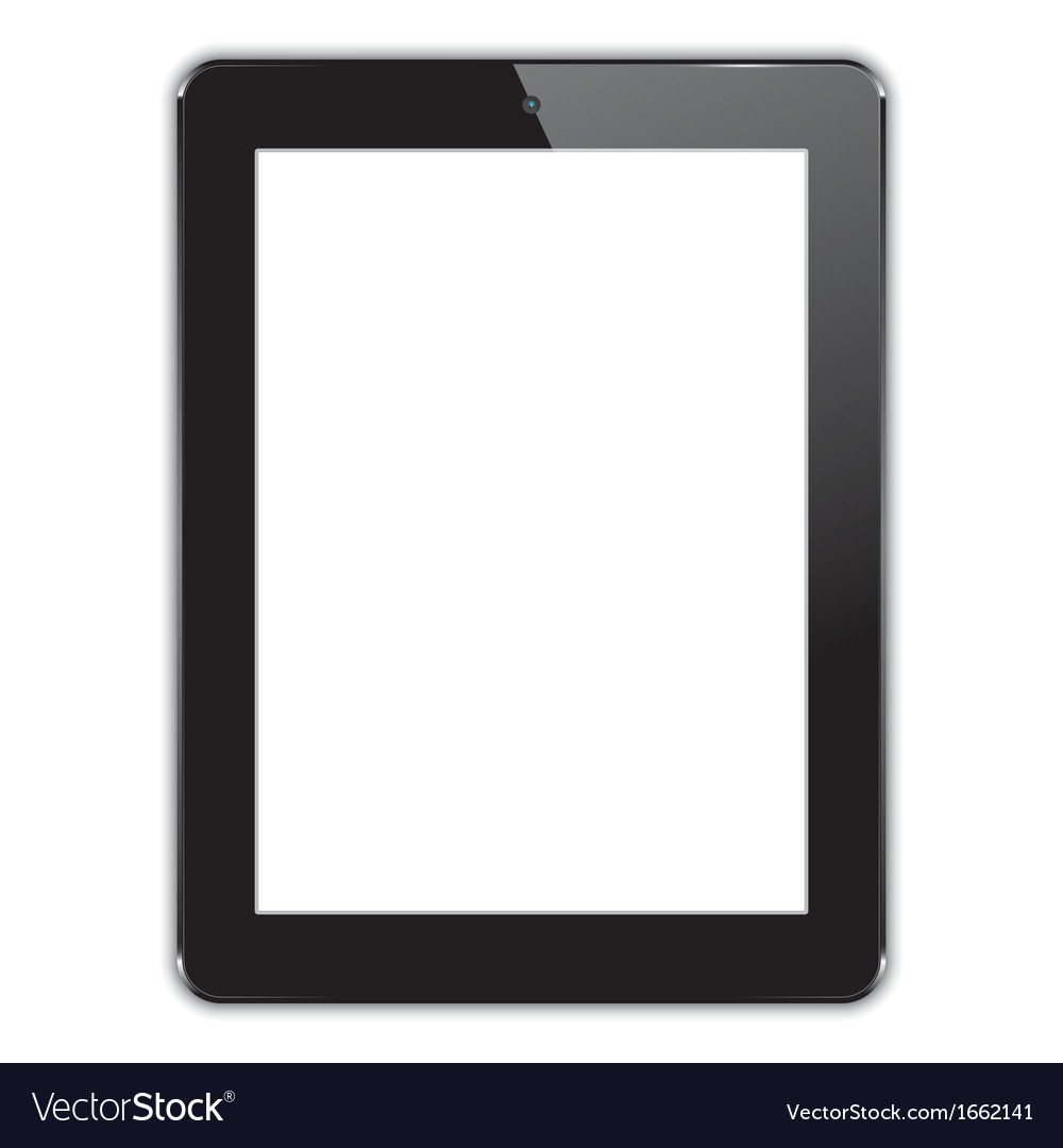Black computer tablet vector | Price: 1 Credit (USD $1)