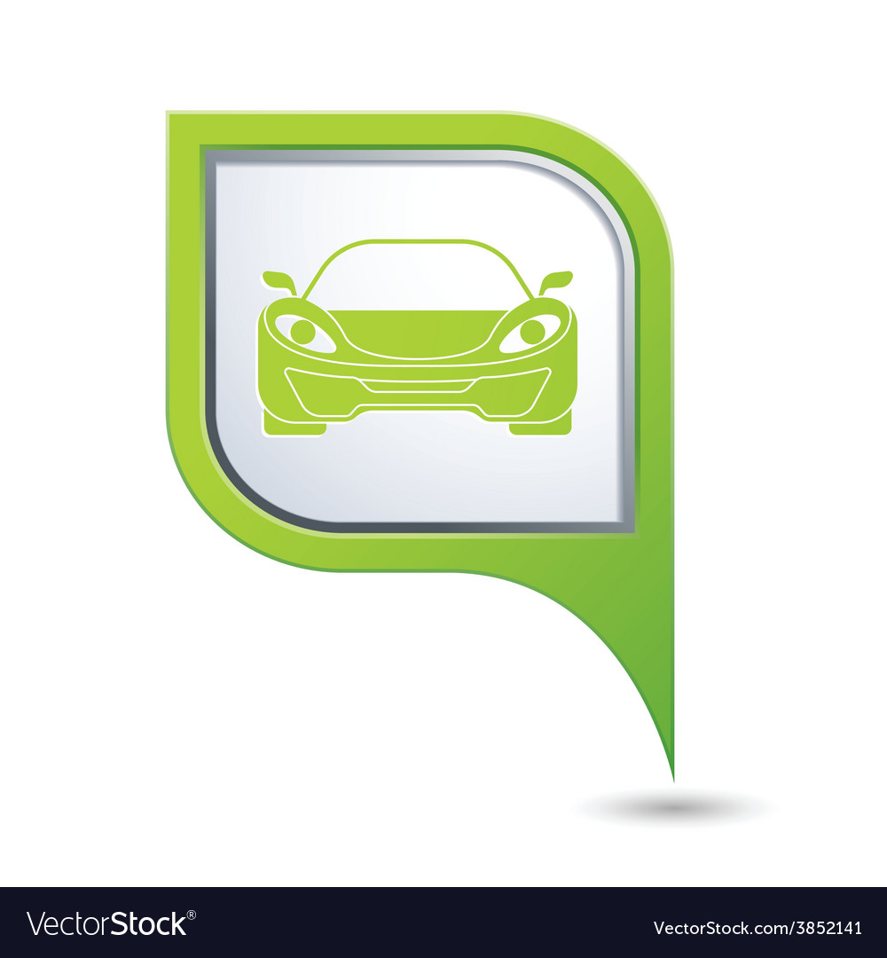 Car green pointer vector | Price: 1 Credit (USD $1)