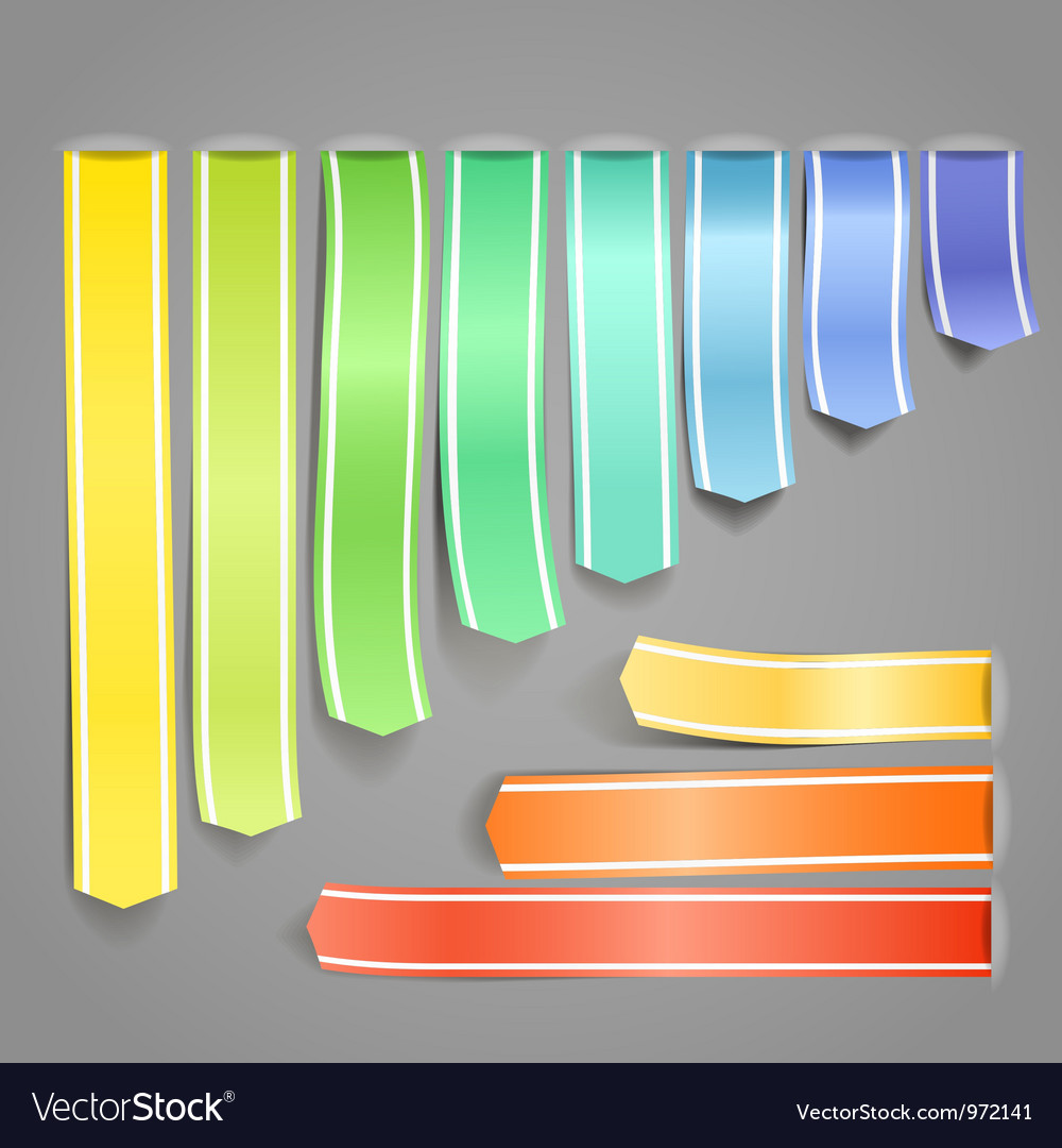 Color ribbons vector | Price: 1 Credit (USD $1)