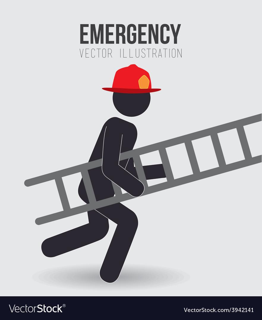 Emergency design vector | Price: 1 Credit (USD $1)