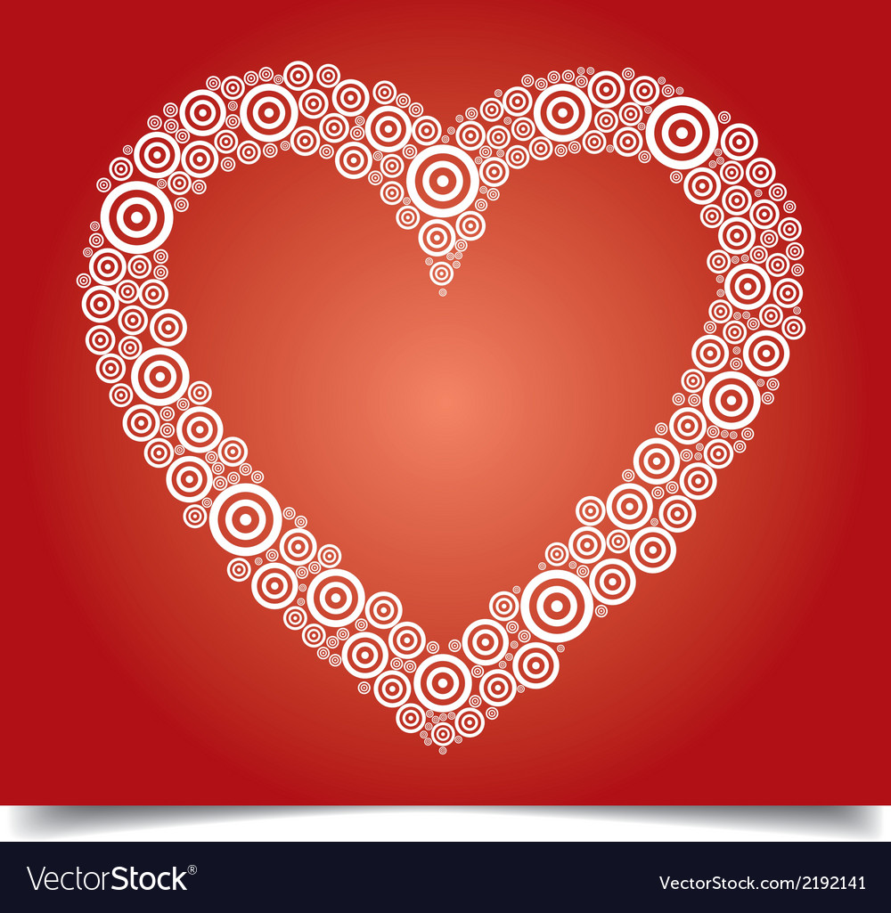 Heart white circle vector | Price: 1 Credit (USD $1)