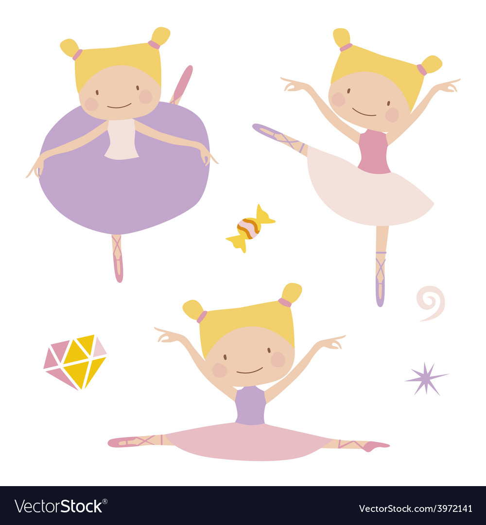 Lillte ballerinas vector | Price: 1 Credit (USD $1)