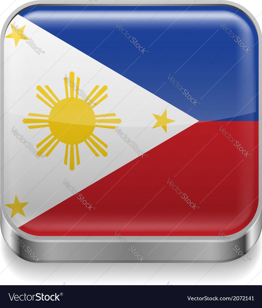 Metal icon of philippines vector | Price: 1 Credit (USD $1)