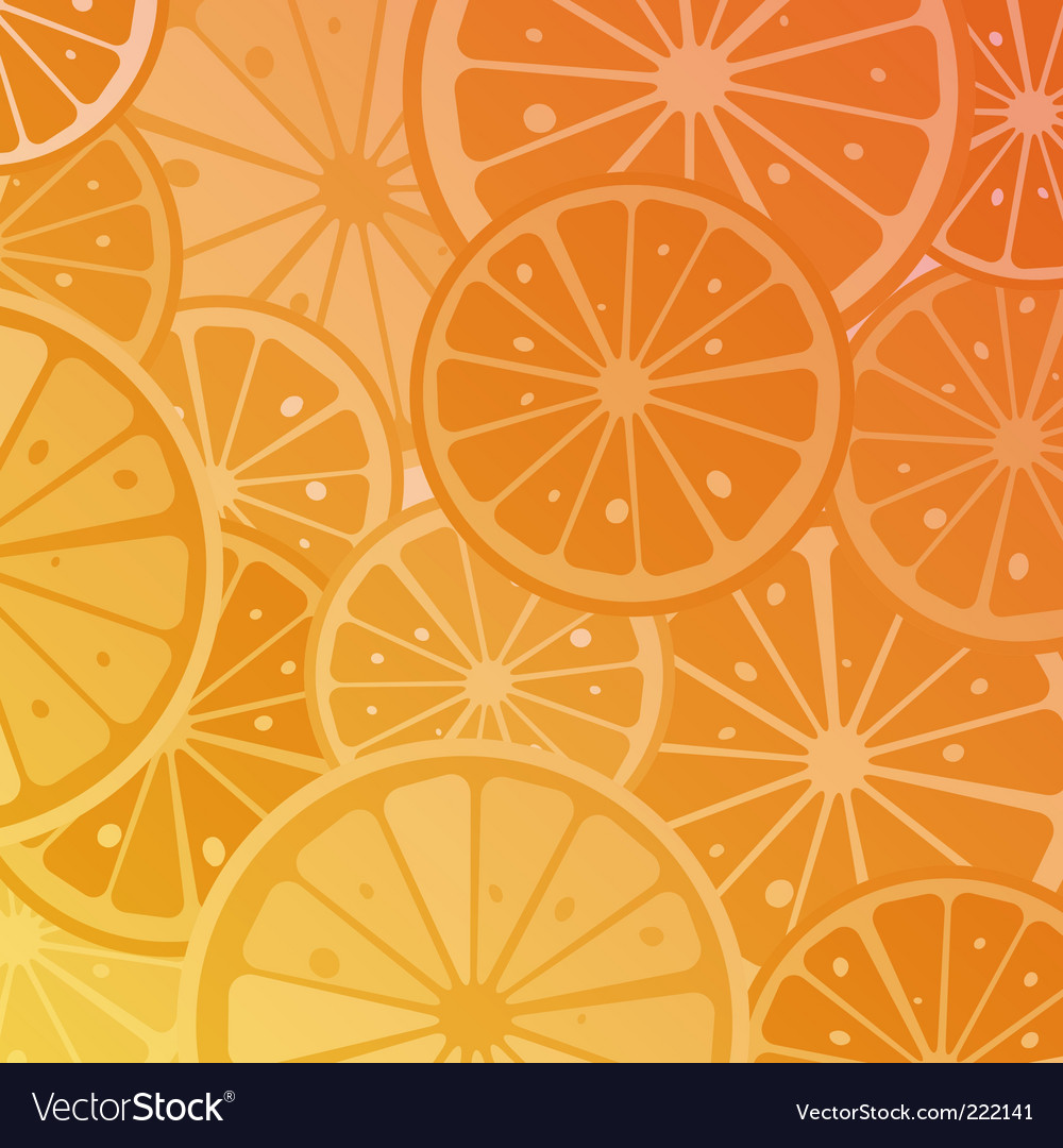 Orange slices vector | Price: 1 Credit (USD $1)