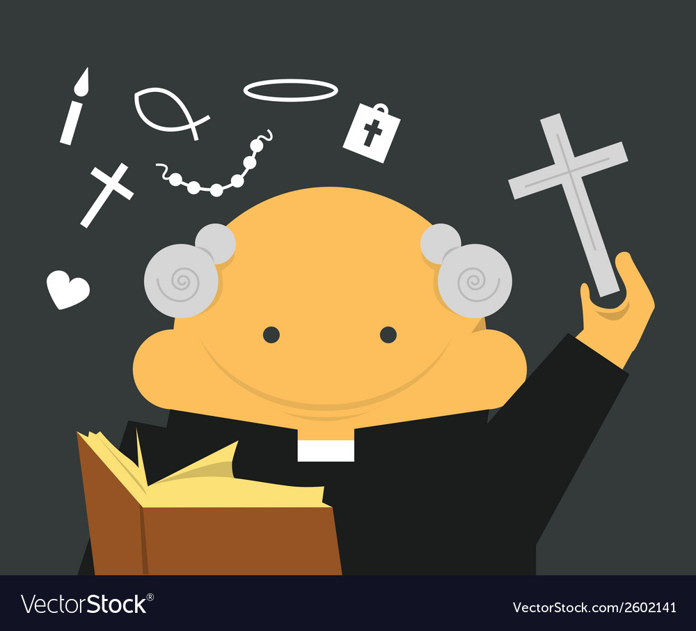 Priest with cross vector | Price: 1 Credit (USD $1)
