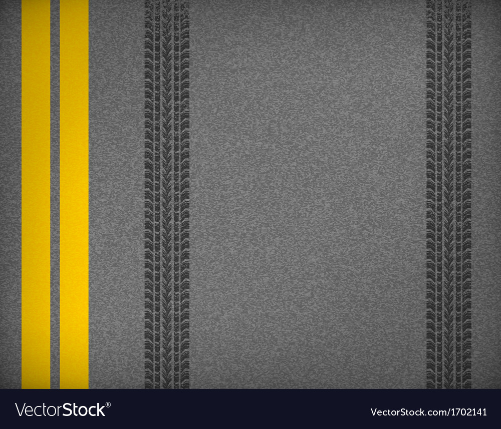 Tire tracks on road vector | Price: 1 Credit (USD $1)