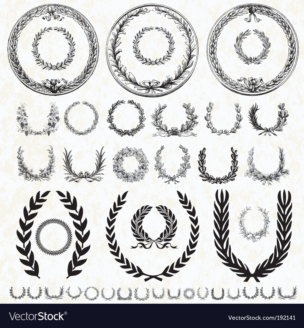 Victory wreath collection vector | Price: 1 Credit (USD $1)