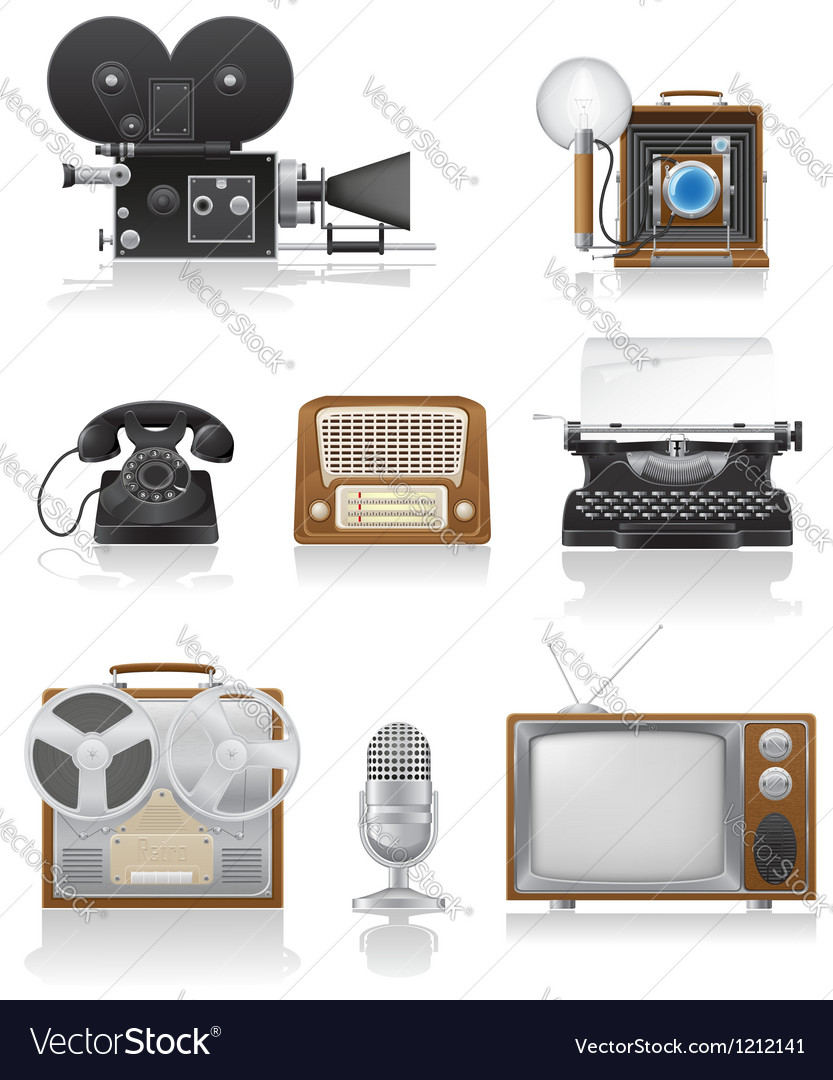 Vintage and old art equipment 01 vector | Price: 3 Credit (USD $3)