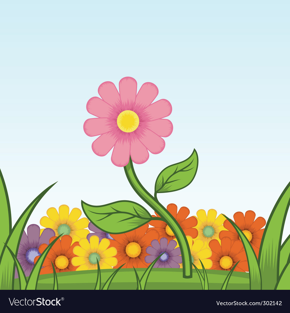 Beautiful flower vector | Price: 1 Credit (USD $1)