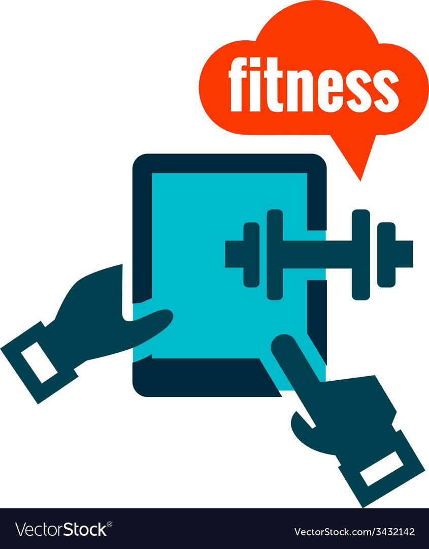 Fitness icon vector | Price: 1 Credit (USD $1)