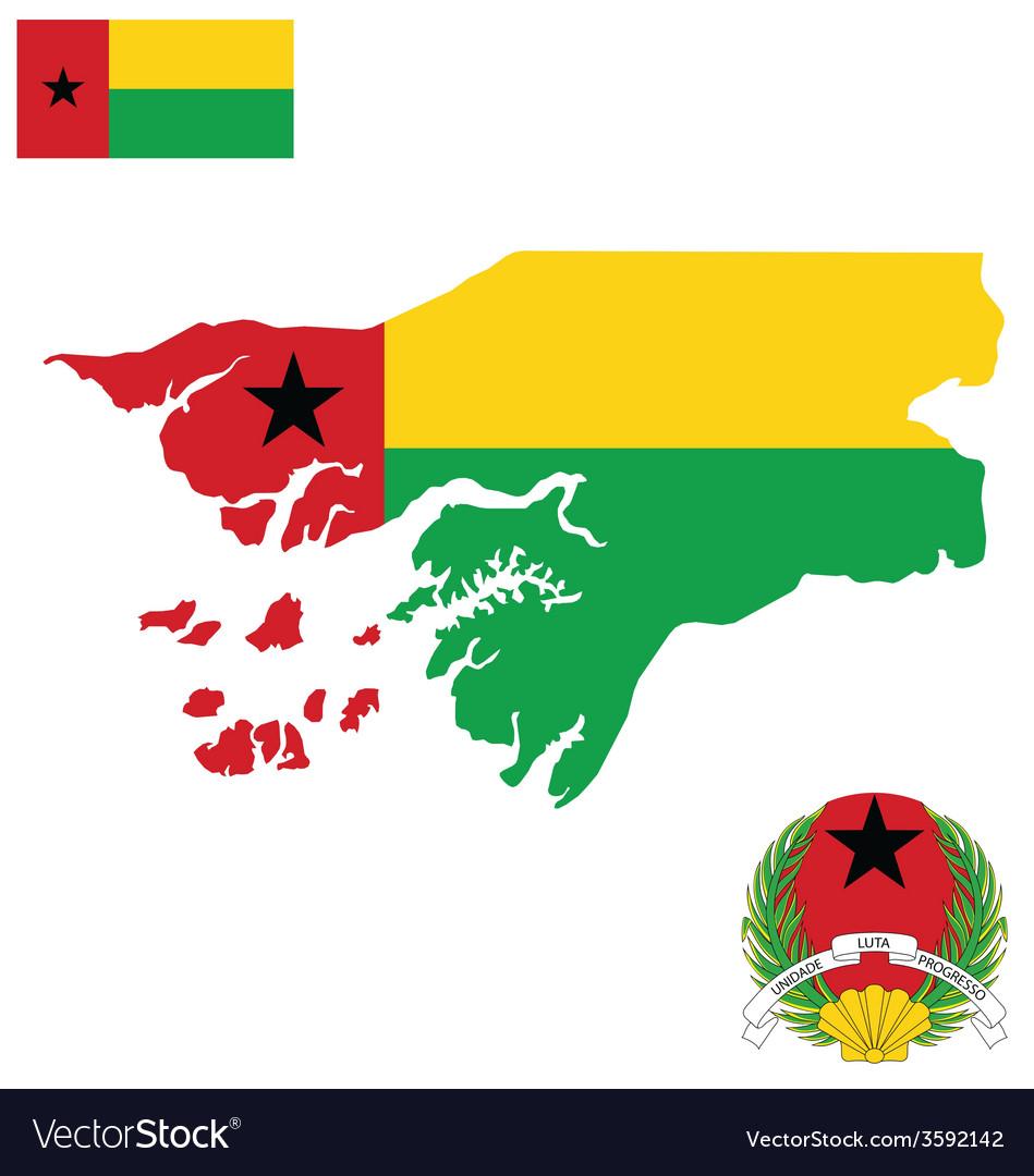 Guinea bissau flag vector | Price: 1 Credit (USD $1)