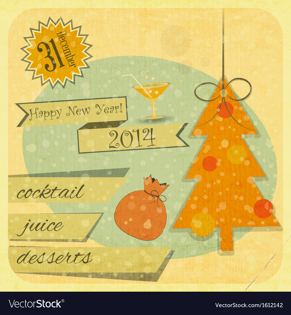 Invitation to the new year party vector   Price: 1 Credit (USD $1)