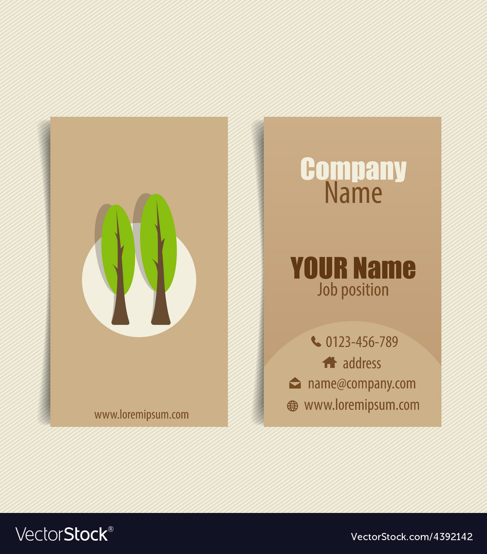 Modern business card template with nature vector | Price: 1 Credit (USD $1)