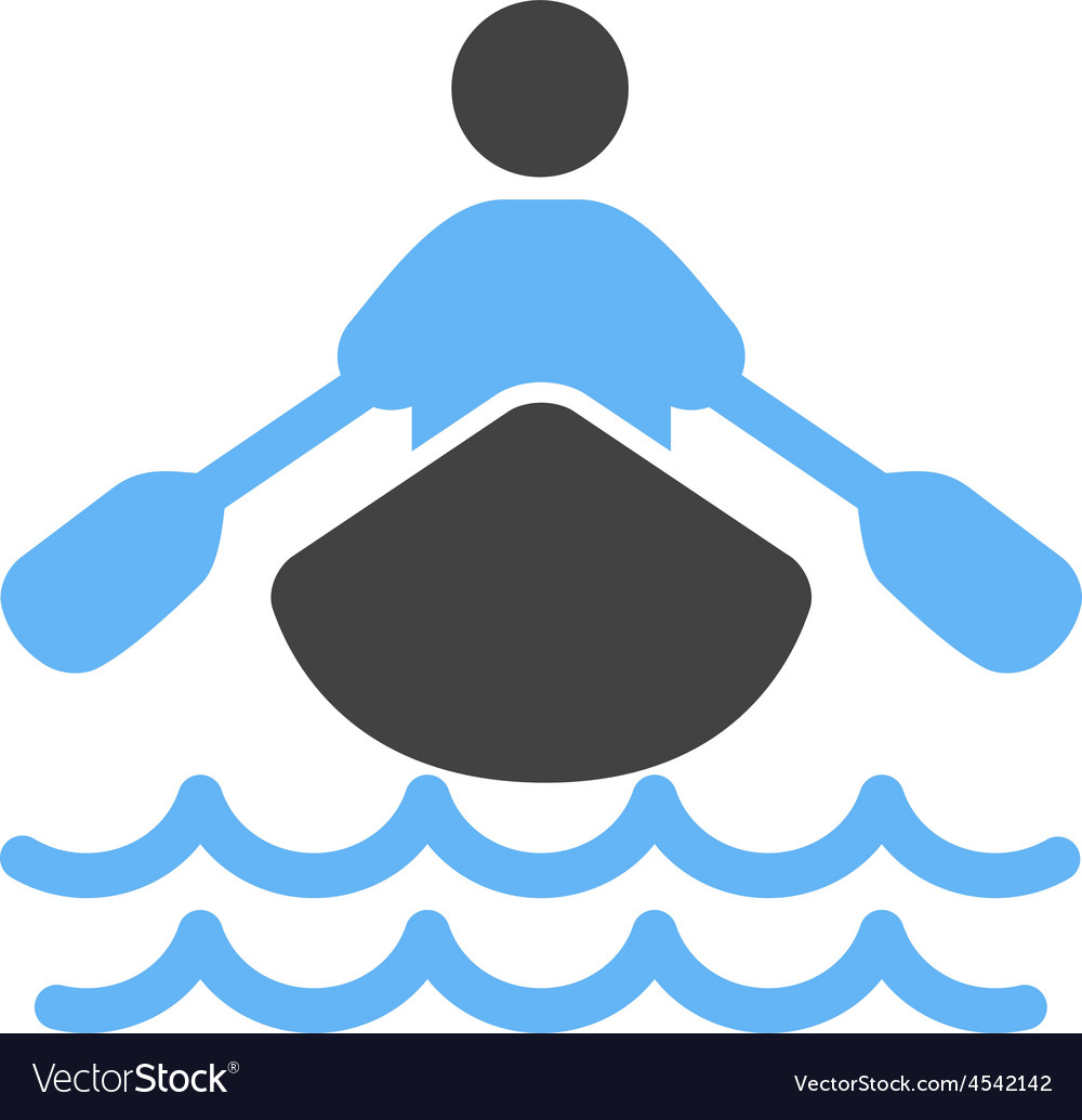 Rowing person vector | Price: 1 Credit (USD $1)