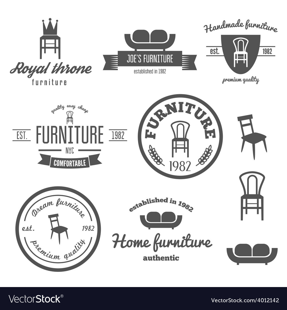Set of vintage logo badgeemblem and logotype vector