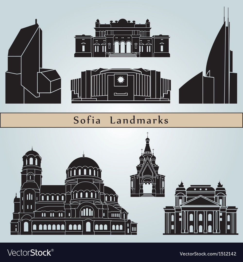 Sofia landmarks and monuments vector | Price: 3 Credit (USD $3)