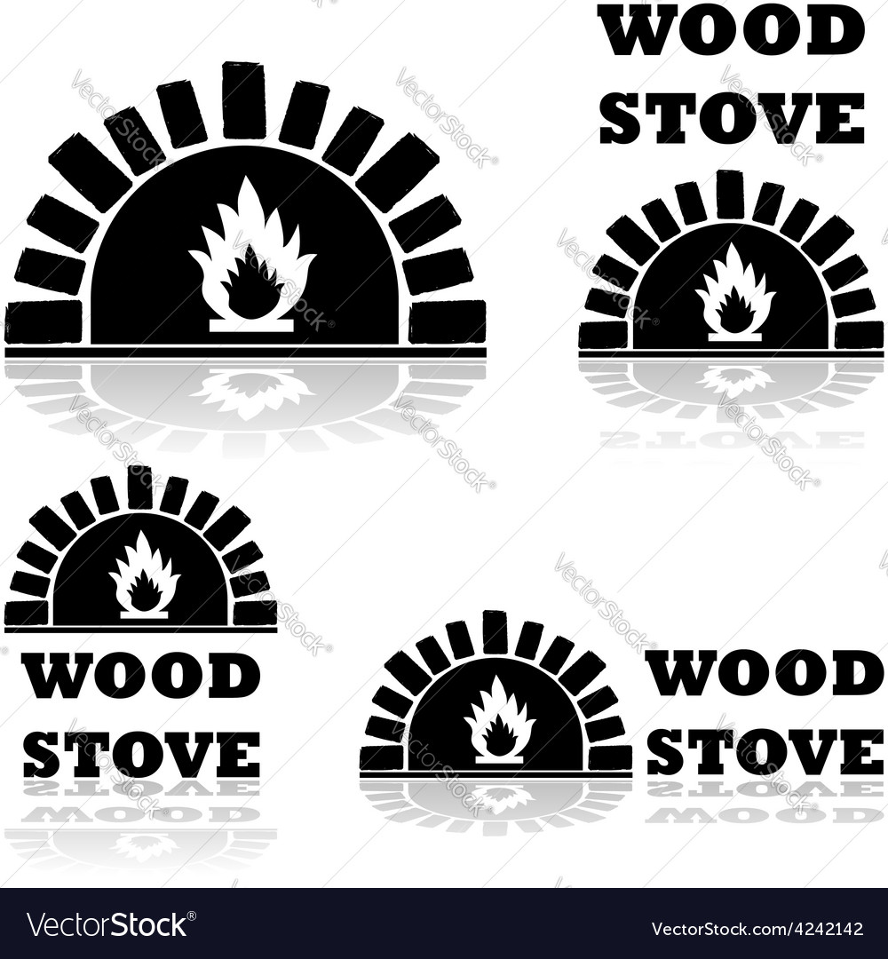 Wood stove and oven vector | Price: 1 Credit (USD $1)
