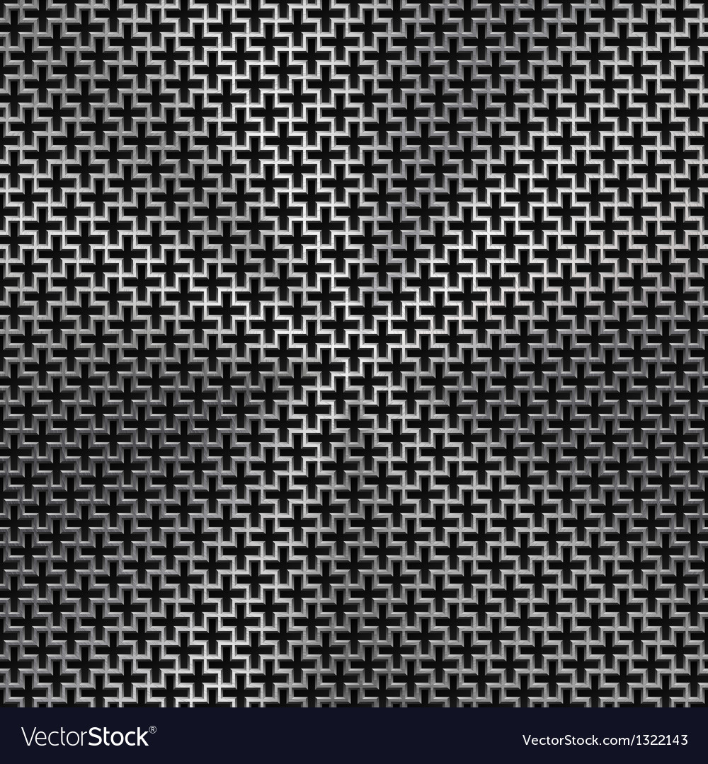 Background with cross pattern and metal texture vector