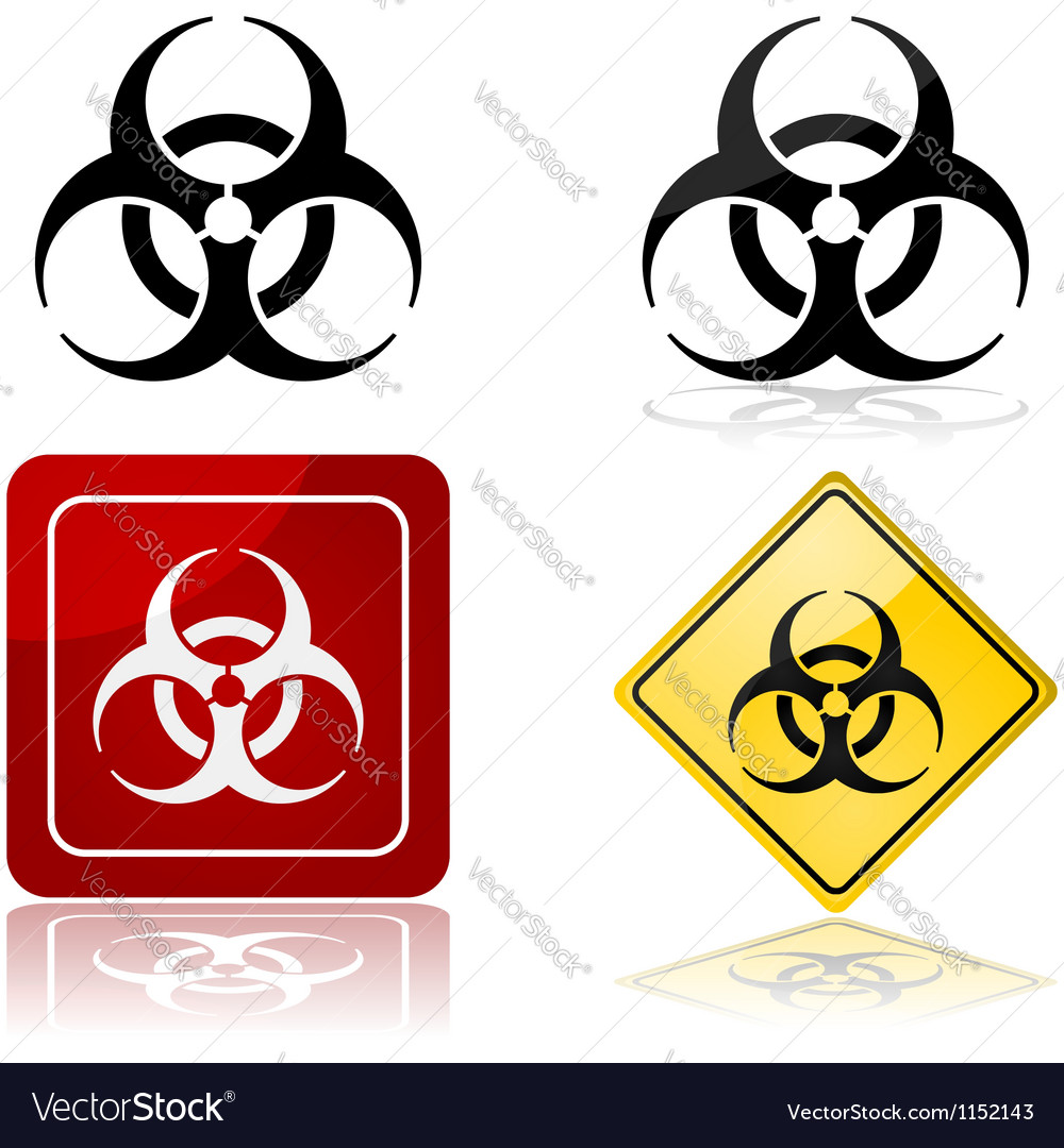 Biohazard symbol vector | Price: 1 Credit (USD $1)