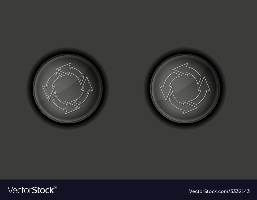 Circle arrows on buttons vector | Price: 1 Credit (USD $1)