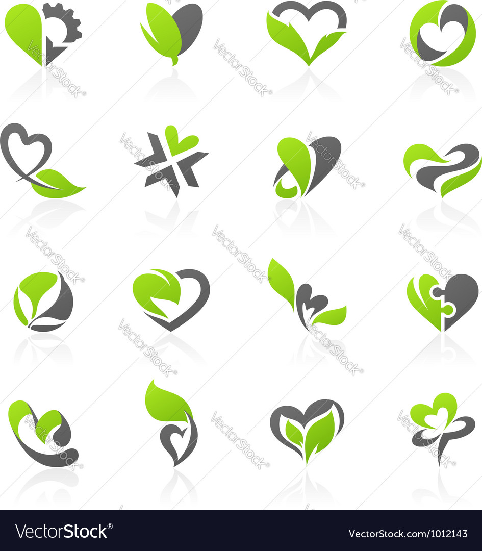 Eco themed design elements vector | Price: 1 Credit (USD $1)
