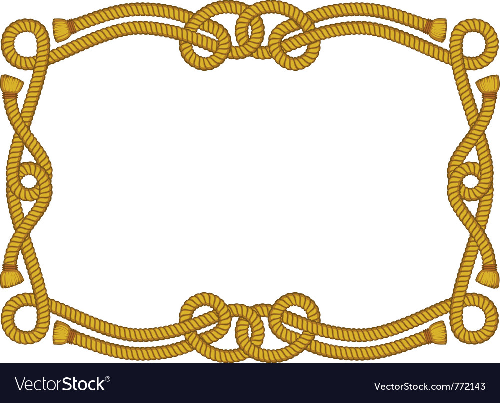 Fancy rope frame vector | Price: 1 Credit (USD $1)
