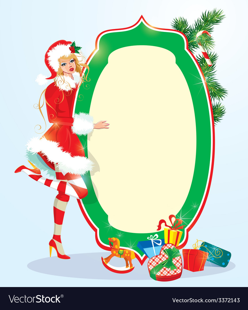 Girl xmas 2 380 vector | Price: 3 Credit (USD $3)