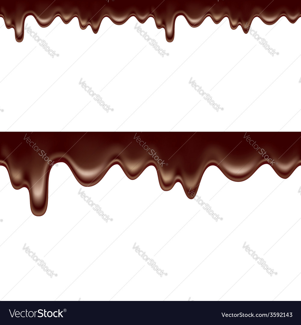 Melted dripping chocolate seamless vector | Price: 1 Credit (USD $1)