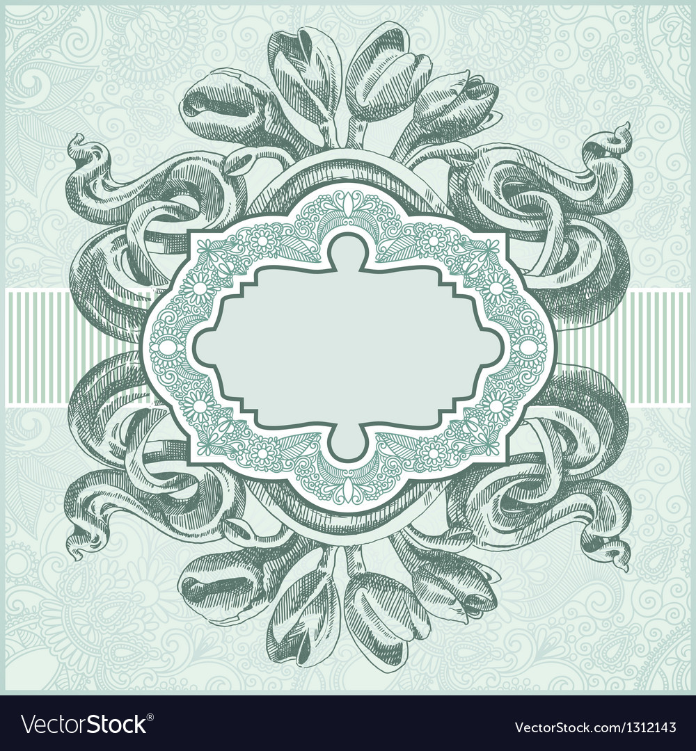 Ornate vintage template vector | Price: 1 Credit (USD $1)