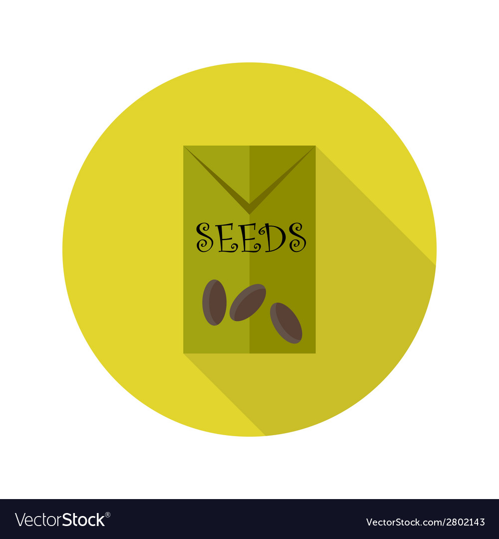 Pack with seeds flat icon vector | Price: 1 Credit (USD $1)