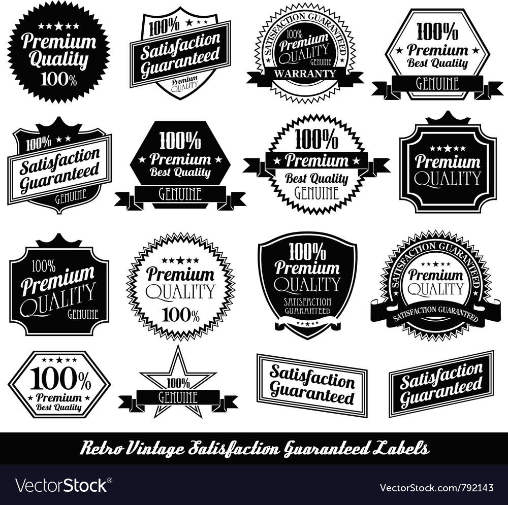 Premium quality labels vector | Price: 1 Credit (USD $1)