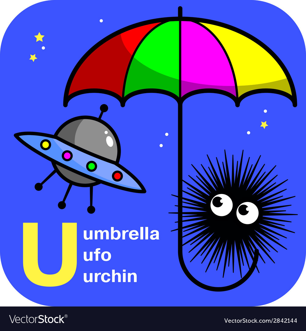 Abc umbrella ufo urchin vector | Price: 1 Credit (USD $1)