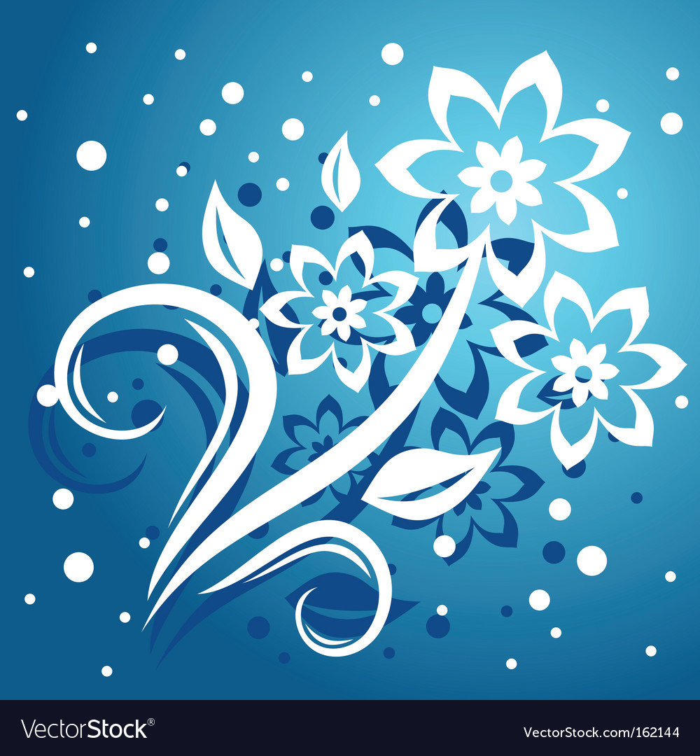 Abstract floral background for design vector | Price: 1 Credit (USD $1)