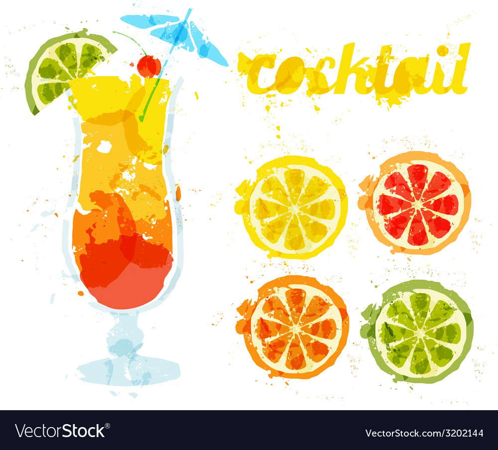 Abstract image of a cocktail vector | Price: 1 Credit (USD $1)