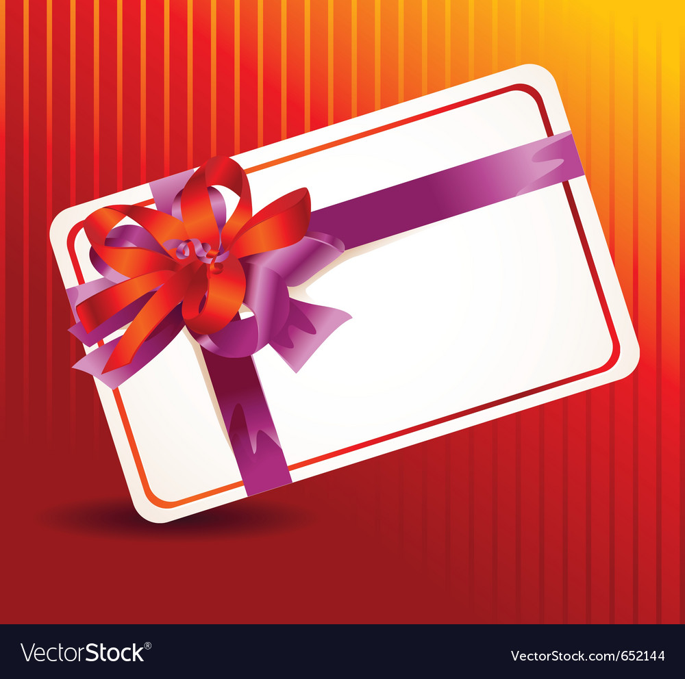 Beautiful card with ribbons vector | Price: 1 Credit (USD $1)