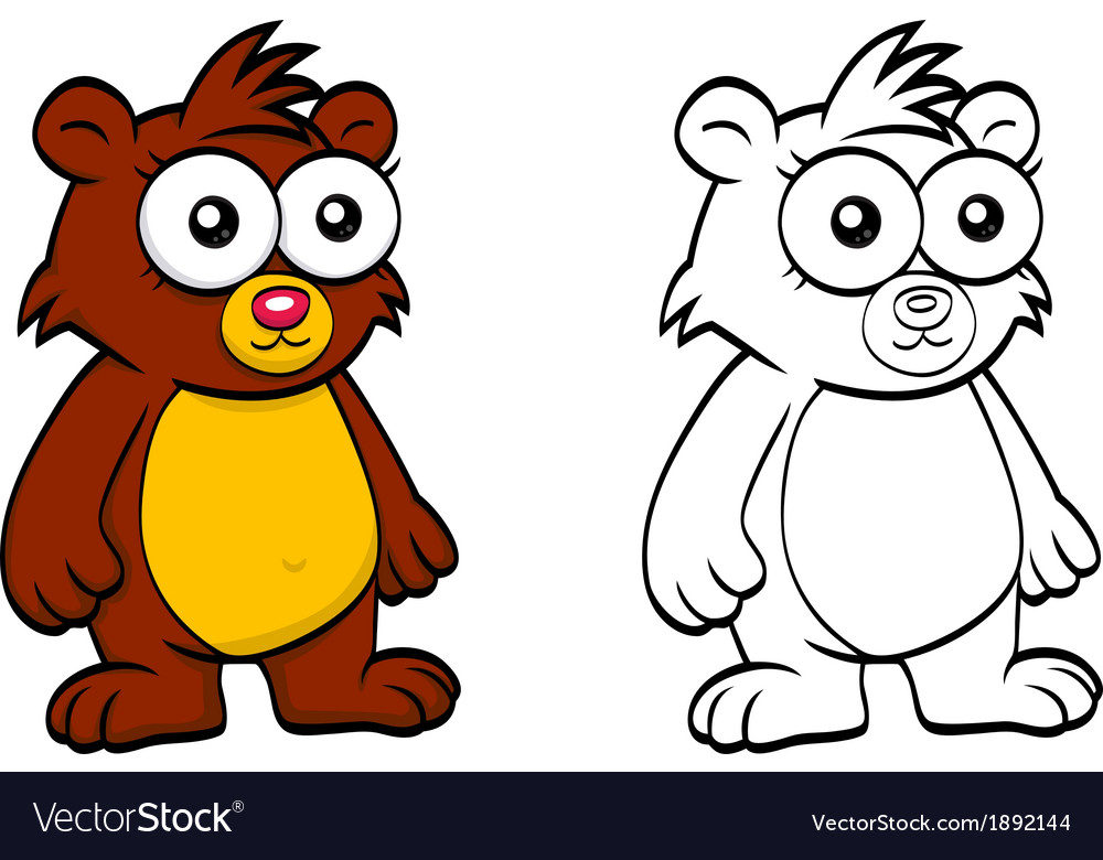 Cartoon bear vector | Price: 1 Credit (USD $1)