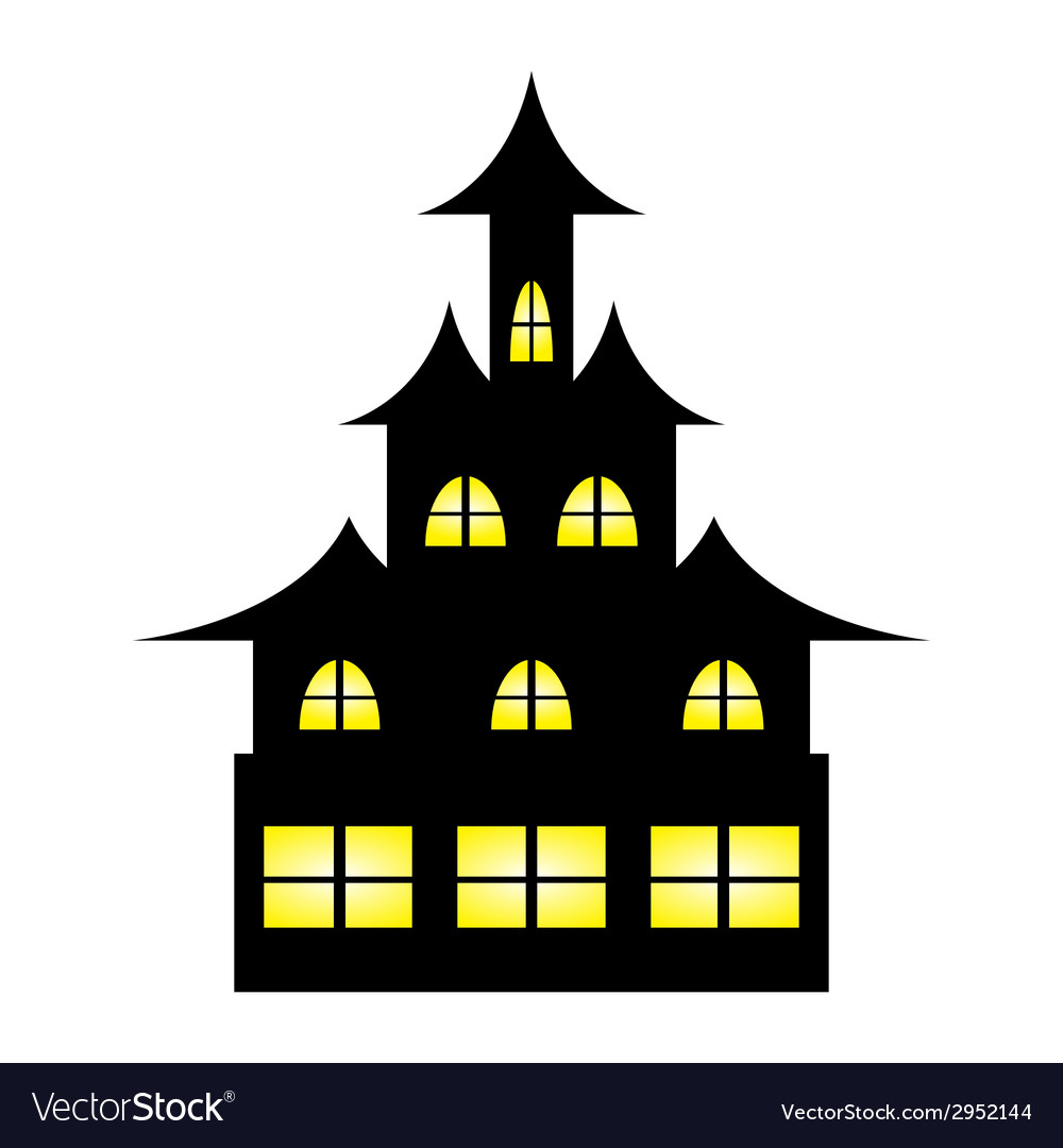 Castle witches on halloween vector | Price: 1 Credit (USD $1)