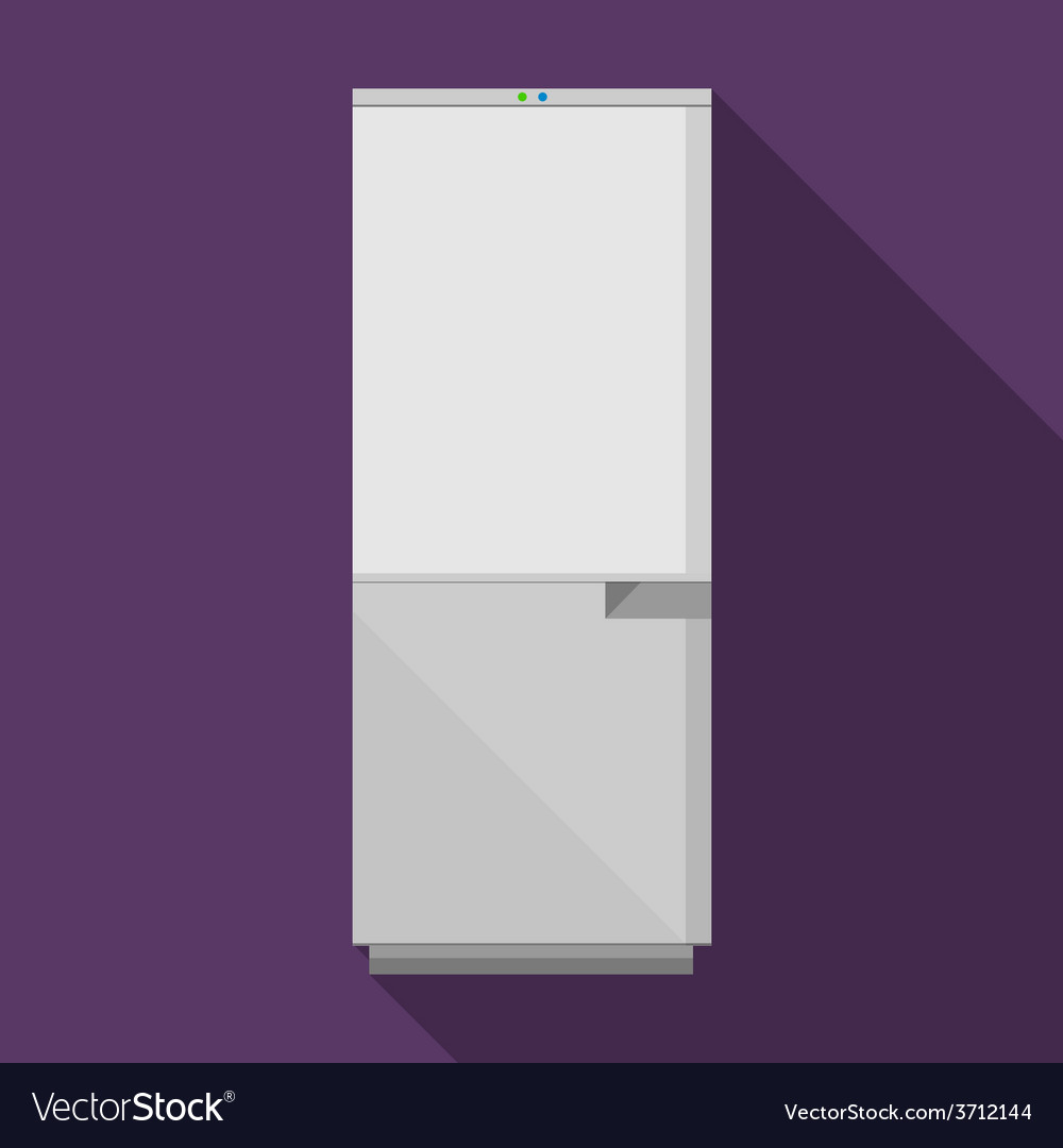 Flat icon for gray refrigerator vector | Price: 1 Credit (USD $1)