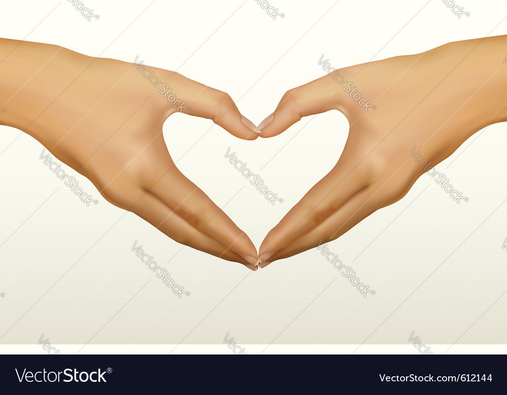 Hands shaped heart vector | Price: 1 Credit (USD $1)