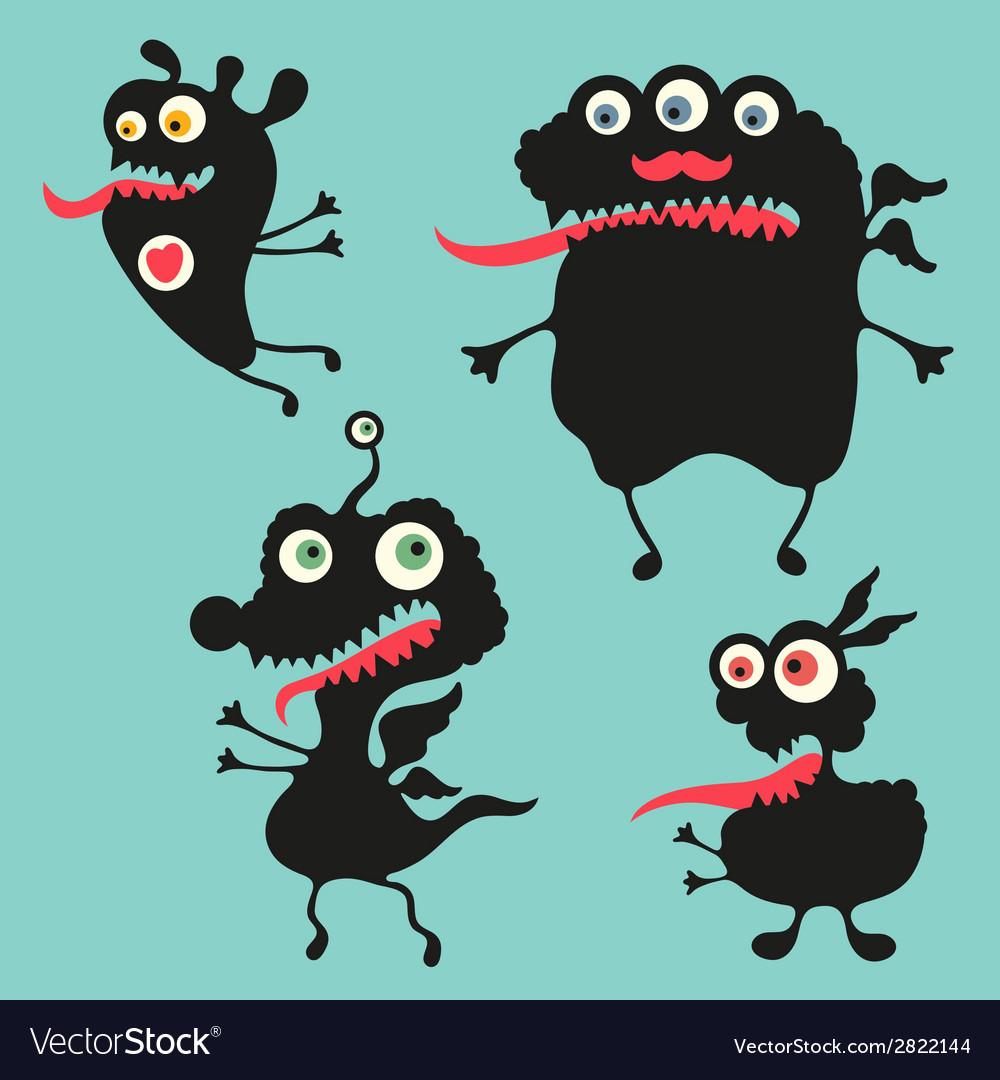 Happy monsters - set 11 vector | Price: 1 Credit (USD $1)